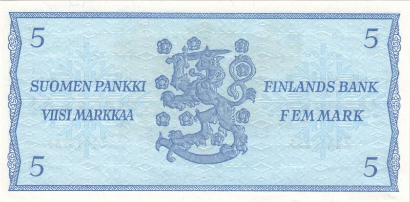 Finland P106Aa(56) 5 Mark 1963 UNC-