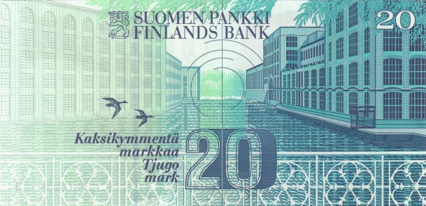 Finland P123(8) 20 Mark 1993 UNC