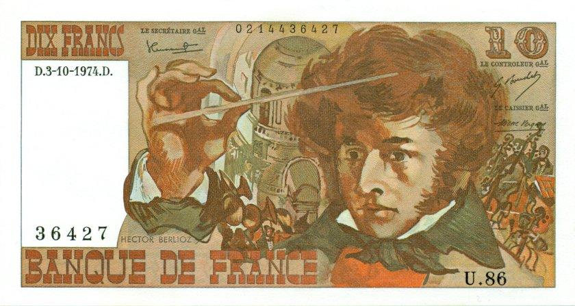 France P150a 10 Francs 1974 UNC