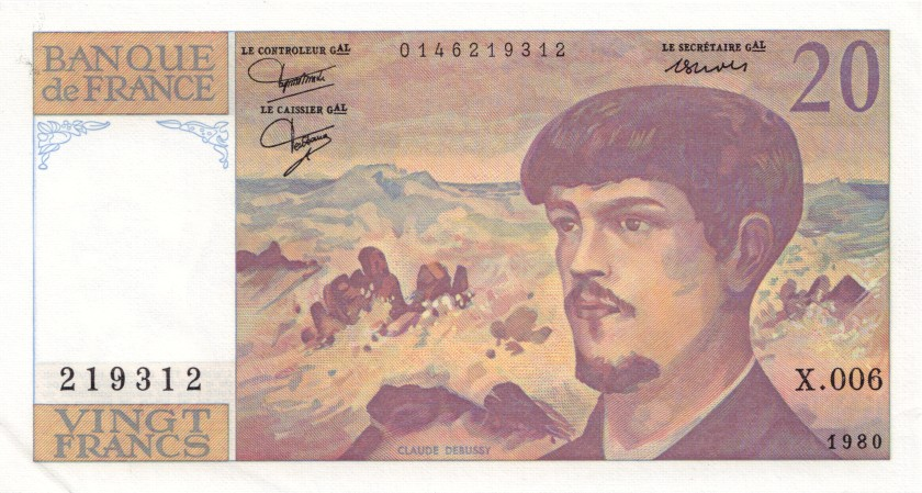 France P151a 20 Francs 1980 AU+