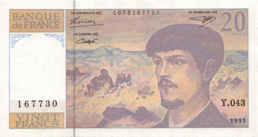 France P151g 20 Francs 1993 AU-