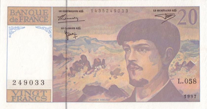 France P151i 20 Francs 1997 AU