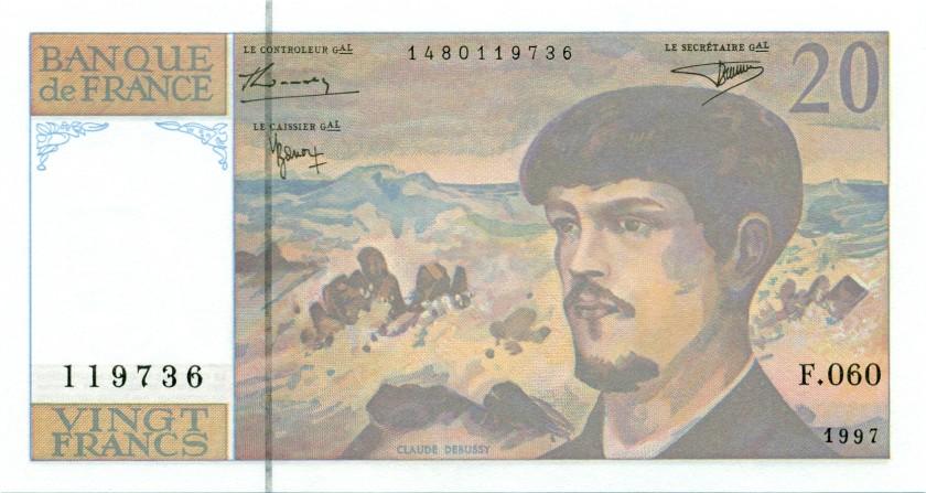 France P151i 20 Francs 1997 UNC
