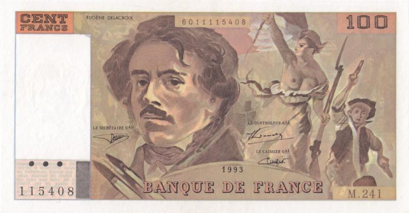 France P154g(2) 100 Francs 1993 UNC