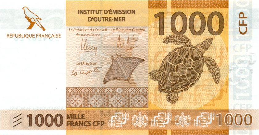 French Pacific Territories P6 1.000 Francs 2014 UNC