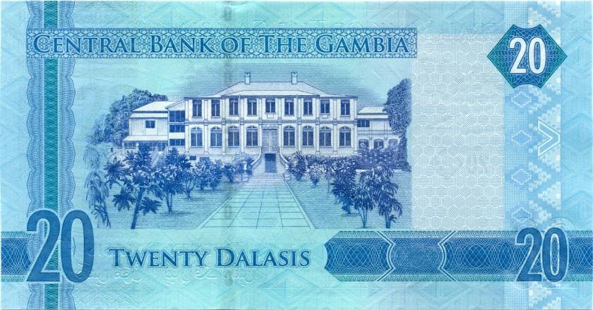 Gambia P33 20 Dalasis 2015 UNC