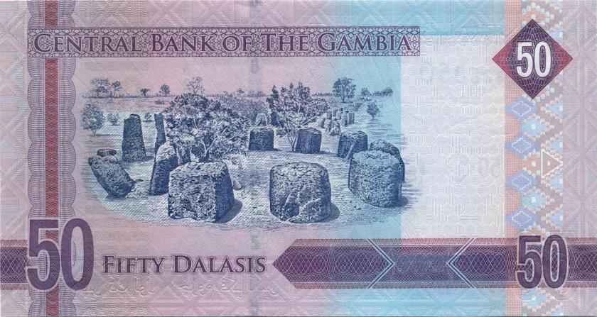 Gambia P34 50 Dalasis 2015 UNC