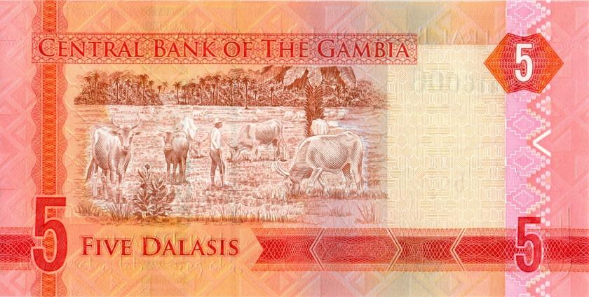 Gambia P31 REPLACEMENT 5 Dalasis 2015 UNC
