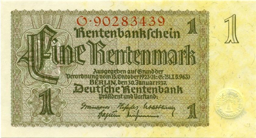 Germany P173b 1 Rentenmark 1937