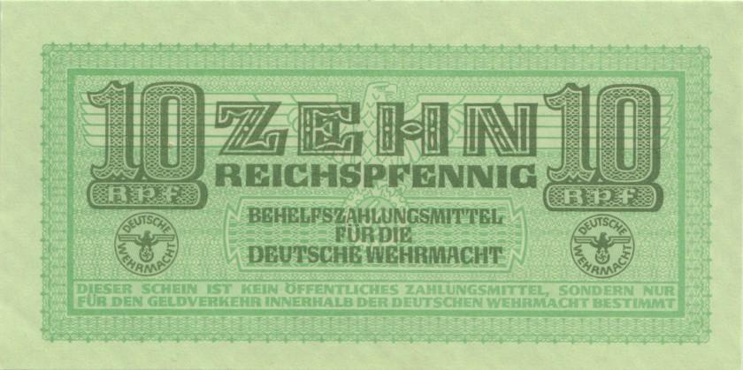 Germany P-M34 10 Reichspfennig 1942 UNC