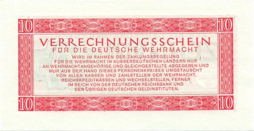 Germany P-M40 10 Reichsmark 1944 UNC
