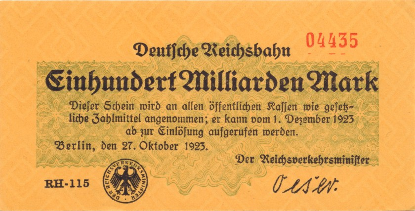 Germany P-S1024(1) 100.000.000.000 Mark 1923 AU