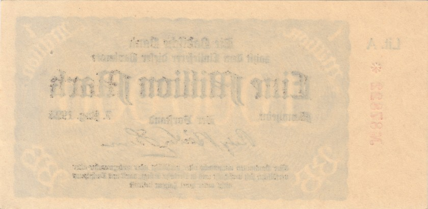 Germany P-S912(1) 1.000.000 Mark 1923 AU