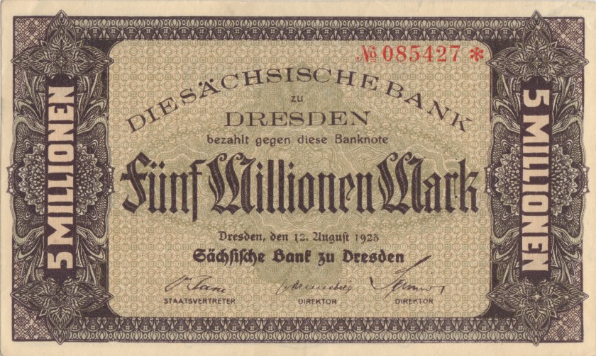 Germany P-S964 5.000.000 Mark 1923 AU