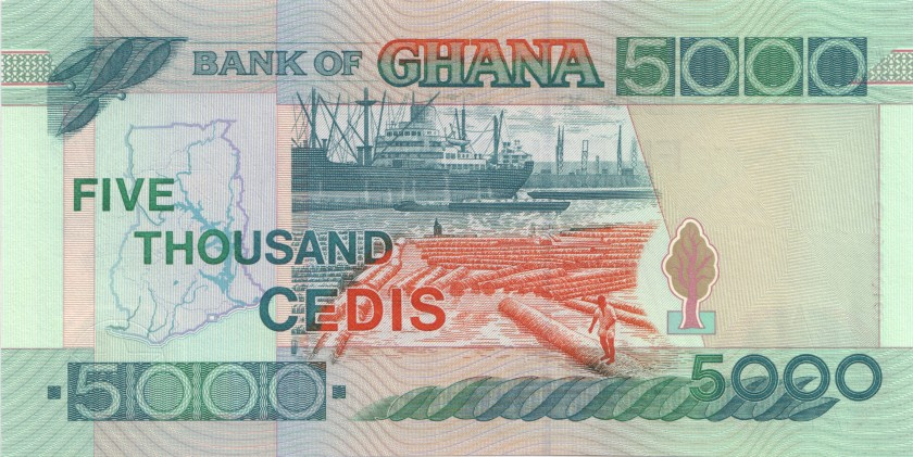 Ghana P34b 5.000 Cedis 1997 UNC