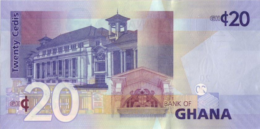 Ghana P40g 20 Cedis 2017 UNC