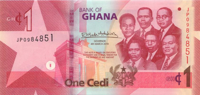 Ghana P-NEW 1 Cedi 2019 UNC