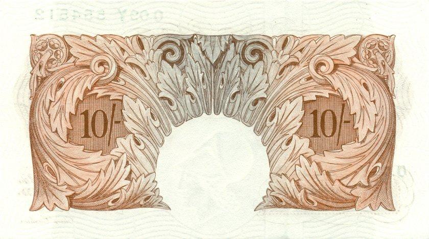 Great Britain P368c 10 Shillings 1948-1960 UNC