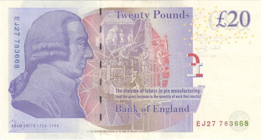 Great Britain P392a 20 Pounds 2006 UNC