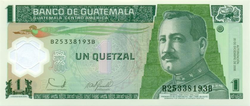 Guatemala P109 1 Quetzal 2006 UNC