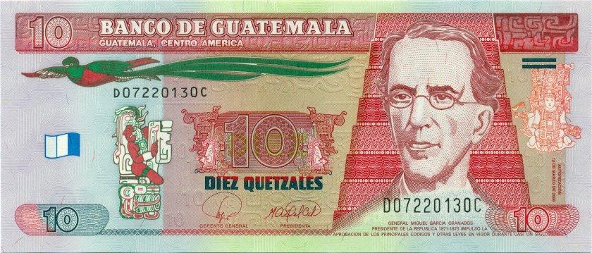 Guatemala P117 10 Quetzales 2008 UNC