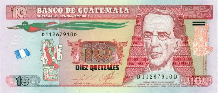 Guatemala P123d 10 Quetzales 2013 UNC