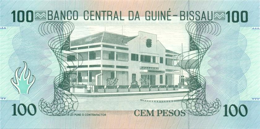 Guinea Bissau P11 100 Pesos 1990 UNC
