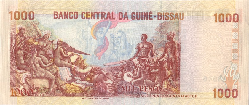 Guinea Bissau P13a 1.000 Pesos 1990 UNC-