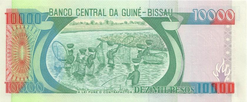 Guinea Bissau P15b 10.000 Pesos 1993 UNC