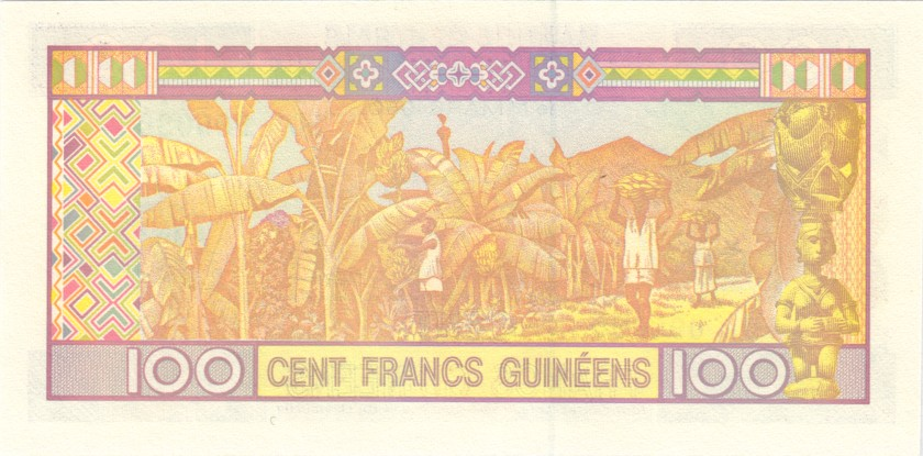 Guinea P35b 090090 RADAR 100 Guinean Francs 2012 UNC