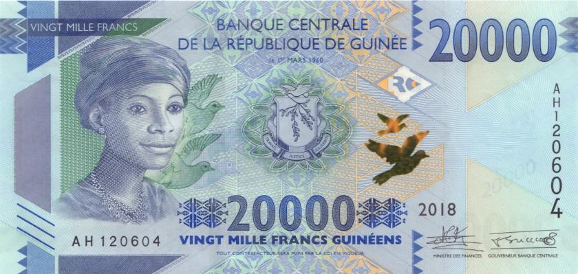 Guinea P-NEW 20.000 Guinean Francs 2018 UNC