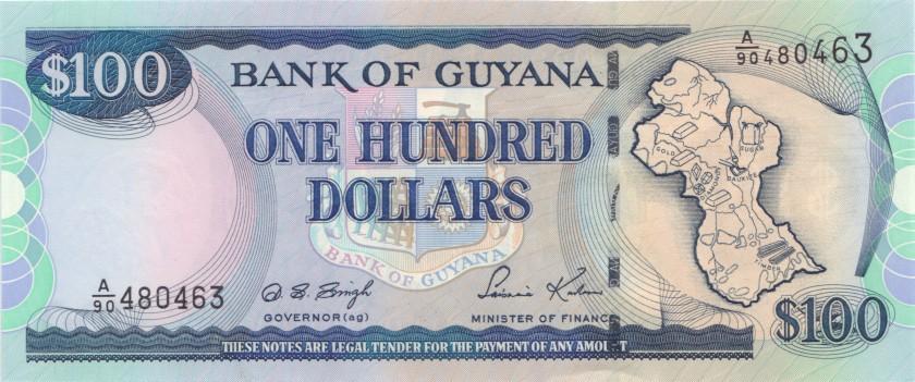 Guyana P31(3) 100 Dollars 1999-2005 UNC