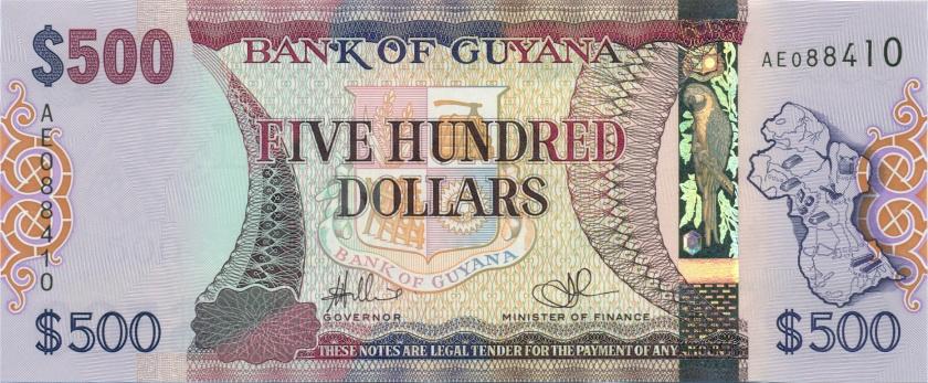 Guyana P37 500 Dollars 2011 UNC