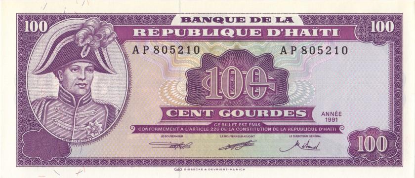 Haiti P258 100 Haitian Gourdes 1991 UNC