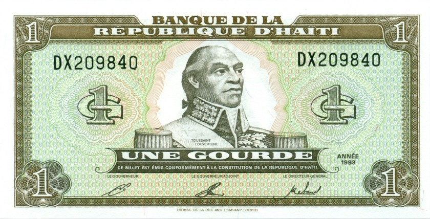Haiti P259 1 Haitian Gourde 1993 UNC