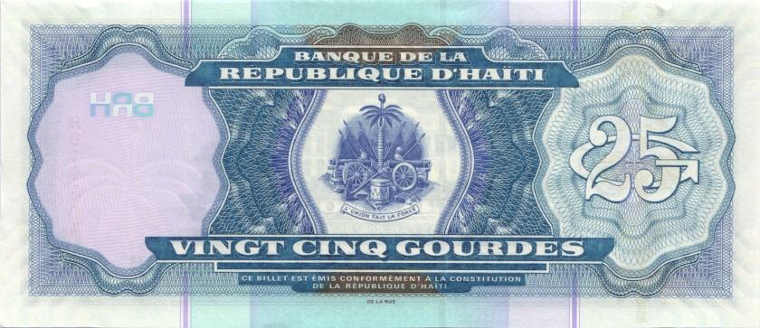 Haiti P266f 25 Haitian Gourdes 2015 UNC