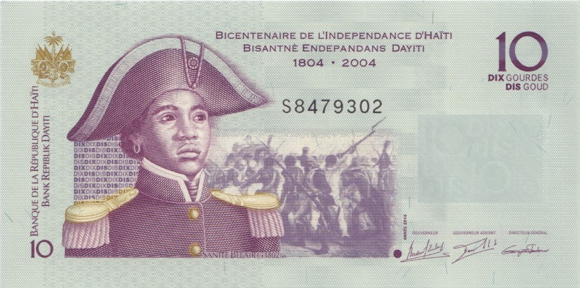 Haiti P272 10 Haitian Gourdes 2016 UNC