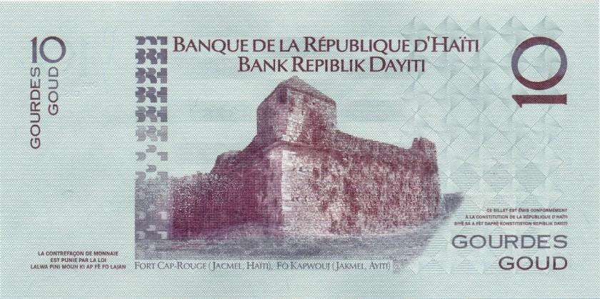 Haiti P272f 10 Haitian Gourdes 2014 UNC