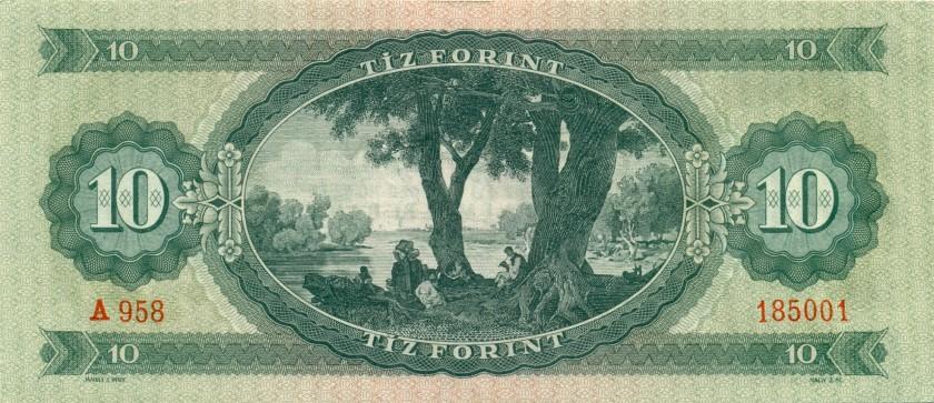 Hungary P168c 10 Forint 1962