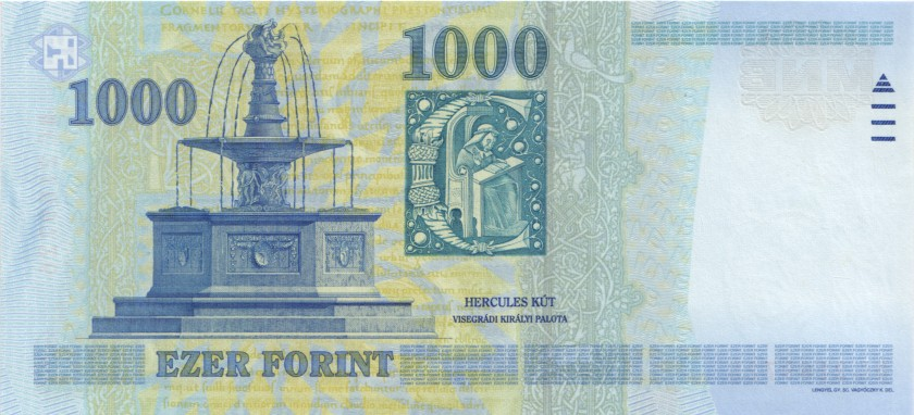 Hungary P195a 1.000 Forint 2005 UNC