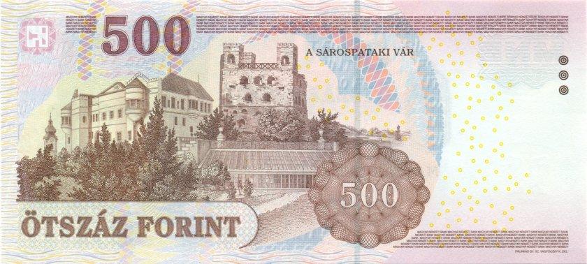 Hungary P196c 500 Forint 2010 UNC