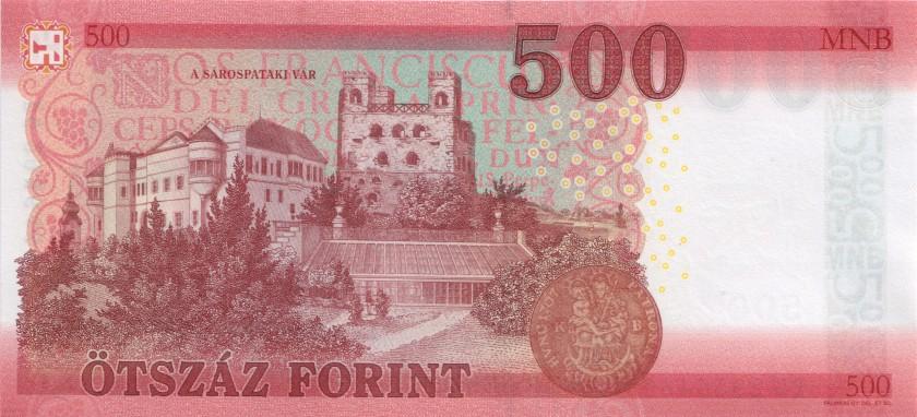 Hungary P-NEW 500 Forint 2018 UNC