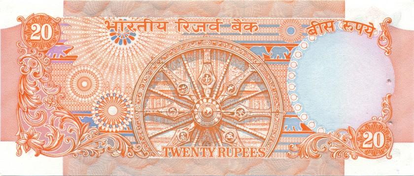 India P82j 20 Rupees 1970-2002 UNC