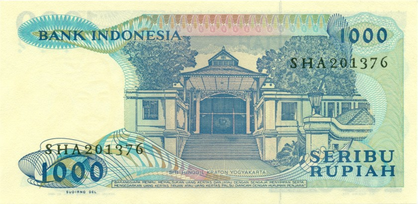 Indonesia P124 1.000 Rupiah 1987 UNC