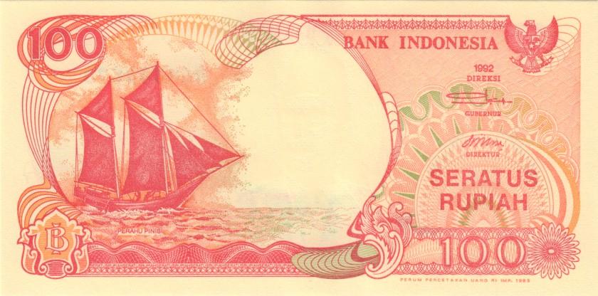 Indonesia P127b 100 Rupiah 1992/1993 UNC