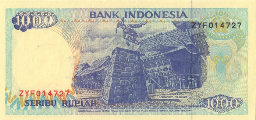 Indonesia P129c 1.000 Rupiah 1992/1994 UNC