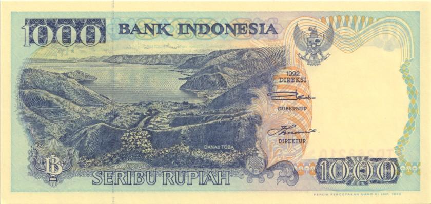 Indonesia P129e 1.000 Rupiah 1992/1996 UNC
