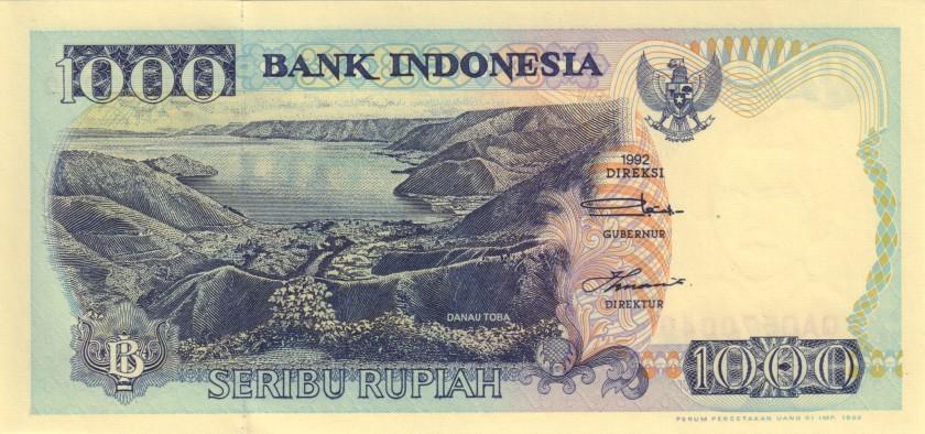 Indonesia P129g 1.000 Rupiah 1992/1998 UNC