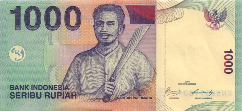 Indonesia P141jr REPLACEMENT 1.000 Rupiah 2000/2009 UNC-