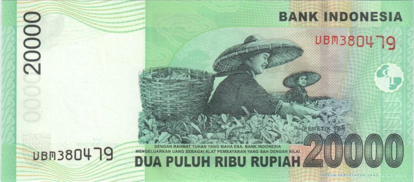 Indonesia P144d 20.000 Rupiah 2004/2007 UNC